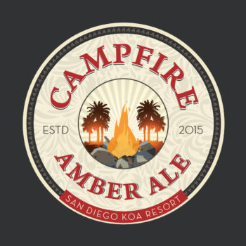 Logo Design: KOA Campfire Amber Ale