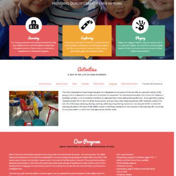 Website Design: SoCal Montessori